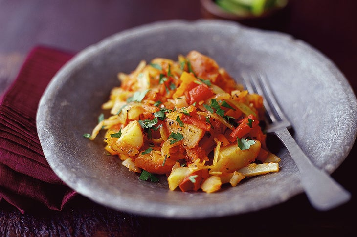 Spicy Bolivian Cabbage And Potatoes Recipe