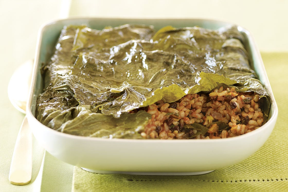 Stuffed Grape Leaves Casserole Recipe